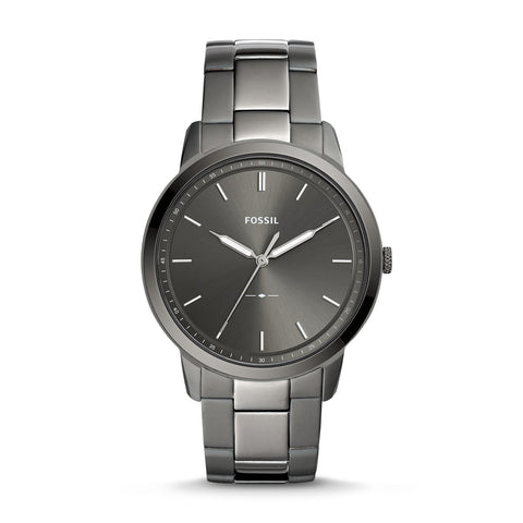 Fossil Men's The Minimalist Three-Hand Smoke Stainless Steel Watch FS5459