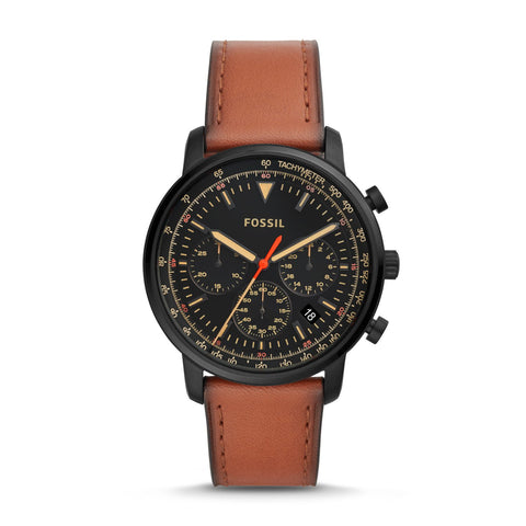 Fossil Men's Goodwin Chronograph Luggage Leather Watch FS5501
