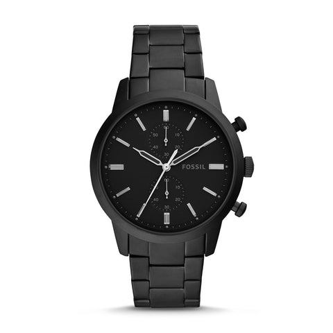Fossil Men's Townsman Chronograph Black Stainless Steel Watch FS5502