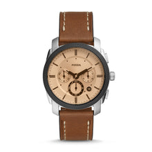 Load image into Gallery viewer, Fossil Men's Machine Chronograph Brown Leather Watch FS5620