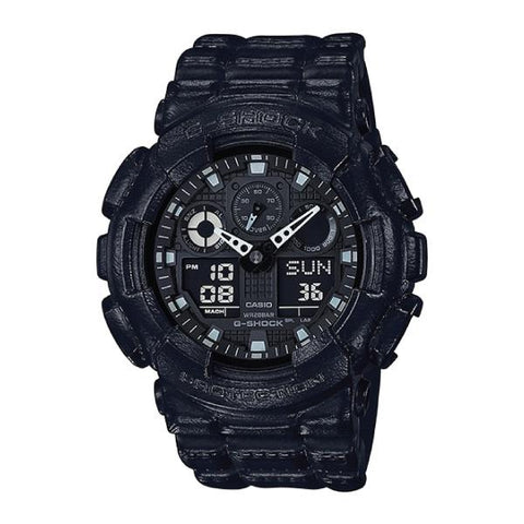 Casio G-Shock Special Color Standard Analog-Digital Black Resin Band Watch GA100BT-1A GA-100BT-1A