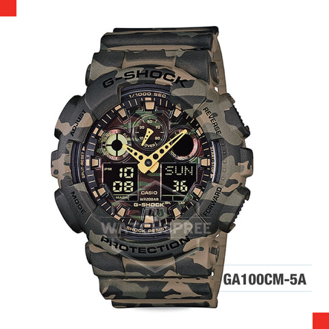 Casio G-Shock Extra Large Series Camouflage Watch GA100CM-5A