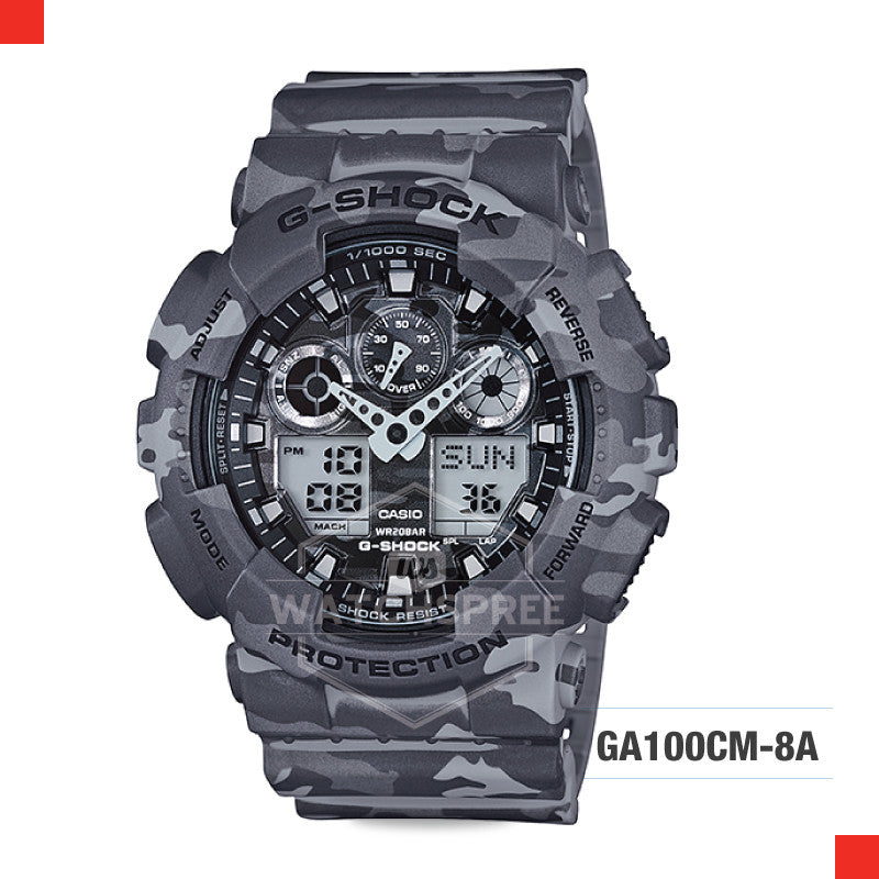 Casio G-Shock Extra Large Series Camouflage Watch GA100CM-8A