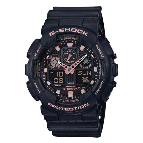 Casio G-Shock Special Color Models Black Resin Band Watch GA100GBX-1A4 GA-100GBX-1A4
