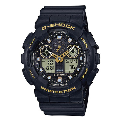Casio G-Shock Special Color Models Black Resin Band Watch GA100GBX-1A9 GA-100GBX-1A9