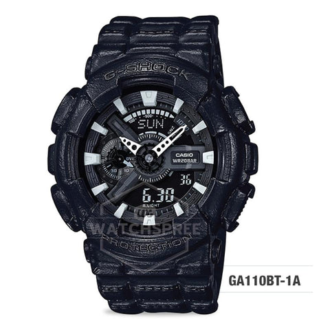 Casio G-Shock Special Color Standard Analog-Digital Black Resin Band Watch GA110BT-1A GA-110BT-1A