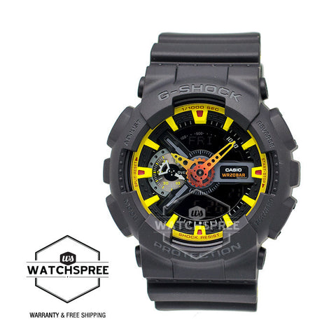 Casio G-Shock Special Color Sporty Mix Design Theme Black Resin Band Watch GA110BY-1A