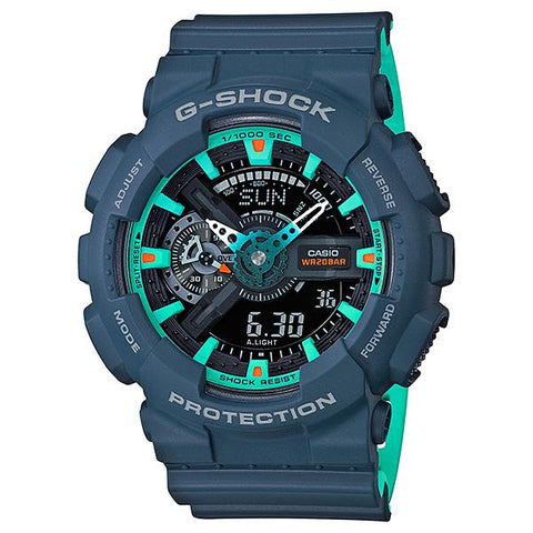 Casio G-Shock GA-110 Lineup Special Color Models Matte Navy Blue Resin Band Watch GA110CC-2A GA-110CC-2A