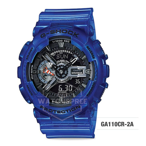 Casio G-Shock Aqua Planet Coral Reef Color Translucent Ocean Water Blue Resin Band Watch GA110CR-2A GA-110CR-2A