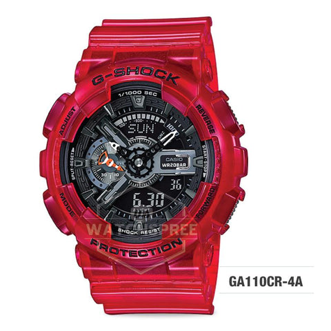 Casio G-Shock Aqua Planet Coral Reef Color Red Resin Band Watch GA110CR-4A GA-110CR-4A