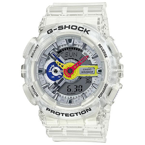 [Limited Edition] Casio G-Shock x A$AP Ferg Collaboration Clear Transparent Resin Band Watch GA110FRG-7A GA-110FRG-7A