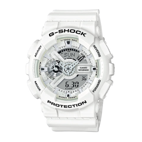 Casio G-Shock White Theme Special Color Model White Resin Band Watch GA110MW-7A GA-110MW-7A