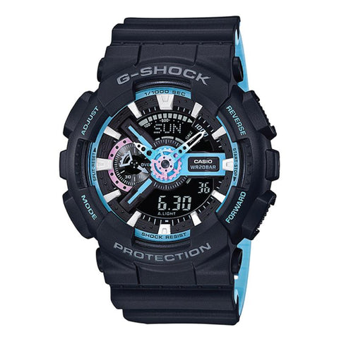Casio G-Shock Special Color Models Black Resin Band Watch GA110PC-1A GA-110PC-1A