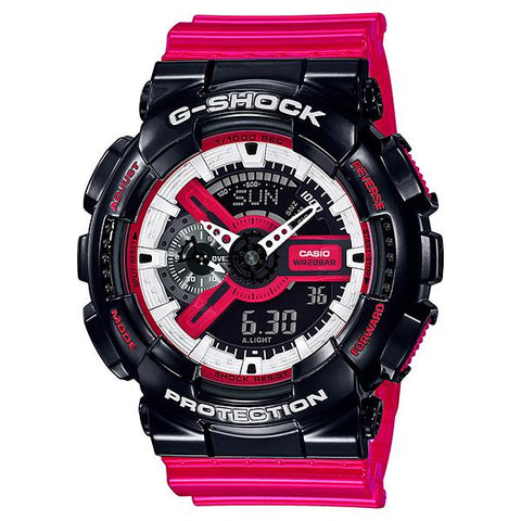 Casio G-Shock GA-110 Lineup Special Color Model Red Semi-Transparent Resin Band Watch GA110RB-1A GA-110RB-1A