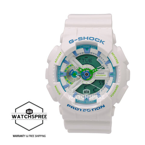 Casio G-Shock Sporty Mix Design Special Color Model White Resin Band Watch GA110WG-7A