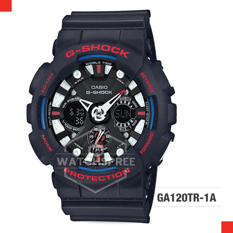 Casio G-Shock Limited Models GA-120 New Collection Black Resin Strap Watch GA120TR-1A