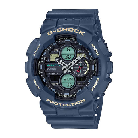Casio G-Shock Standard Analog-Digital GA series Blue Resin Band Watch GA140-2A GA-140-2A