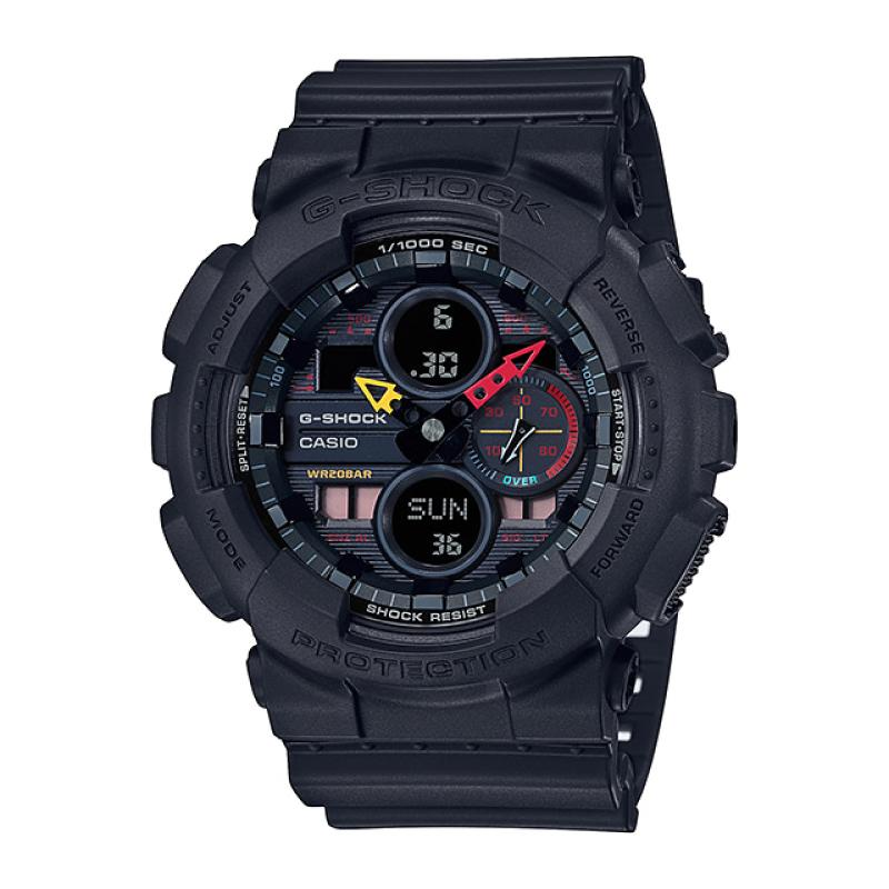 Casio G-Shock GA-140 Lineup Special Color Model Jet Black Resin Band Watch GA140BMC-1A GA-140BMC-1A