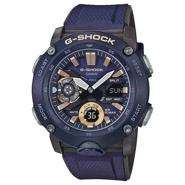 Casio G-Shock Carbon Core Guard Structure Blue Resin Band Watch GA2000-2A GA-2000-2A