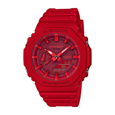 Casio G-Shock Carbon Core Guard Structure Red Resin Band Watch GA2100-4A GA-2100-4A