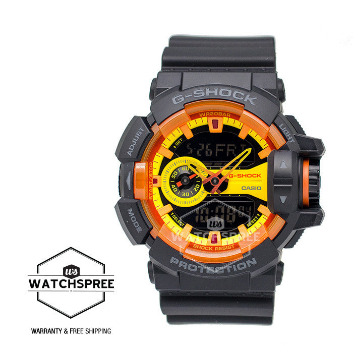 Casio G-Shock Special Color Model Sporty Mix Black Resin Band Watch  GA400BY-1A  f7d6159df2a