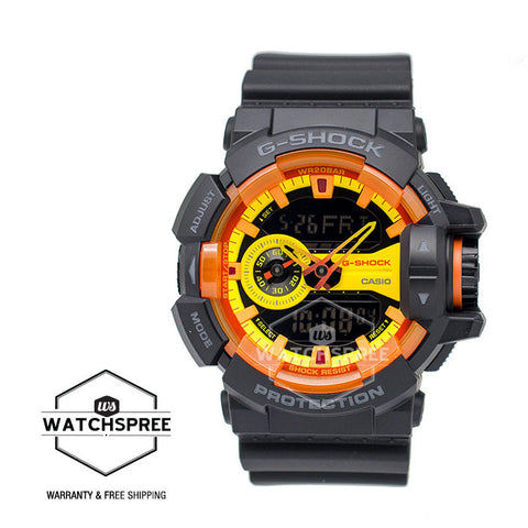 Casio G-Shock Special Color Model Sporty Mix Design Theme Black Resin Band Watch GA400BY-1A