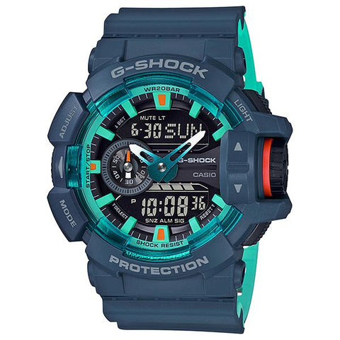 Casio G-Shock GA-400 Lineup Special Color Models Matte Navy Blue Resin Band Watch GA400CC-2A GA-400CC-2A