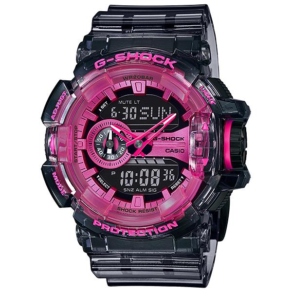 Casio G-Shock GA-400 Lineup Special Color Models Semi-Transparent Resin Band Watch GA400SK-1A4 GA-400SK-1A4