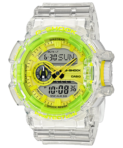 Casio G-Shock GA-400 Lineup Special Color Models Semi-Transparent Resin Band Watch GA400SK-1A9 GA-400SK-1A9