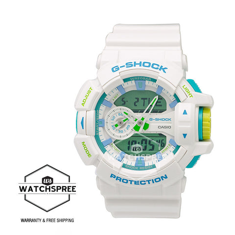 Casio G-Shock Sporty Mix Design Special Color White Resin Band Watch GA400WG-7A