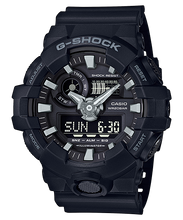 Load image into Gallery viewer, Casio G-Shock New GA-700 Black Resin Band Watch GA700-1B
