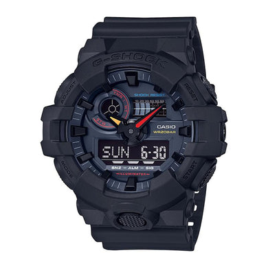 Casio G-Shock GA-700 Lineup Special Color Model Jet Black Resin Band Watch GA700BMC-1A GA-700BMC-1A