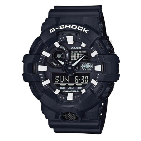 35th Anniversary Collaboration Series Casio G-SHOCK × ERIC HAZE Black with White Graffiti Paint Pattern Resin Band Watch GA700EH-1A GA-700EH-1A