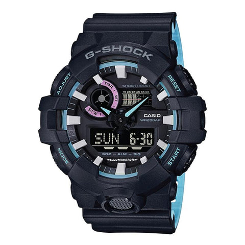 Casio G-Shock Special Color Models Black Resin Band Watch GA700PC-1A GA-700PC-1A