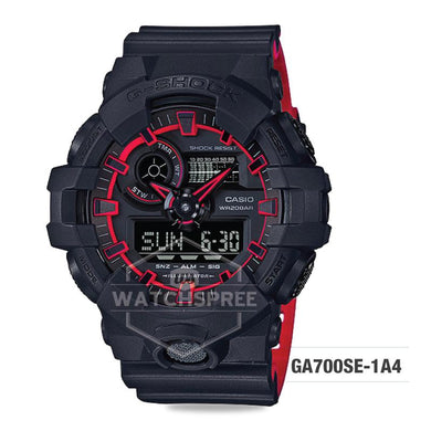 Casio G-Shock Special Color Model Layered Neon Color Black Resin Strap Watch GA700SE-1A4