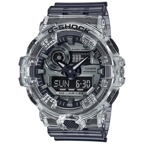 Casio G-Shock GA-700 Lineup Special Color Models Semi-Transparent Resin Band Watch GA700SK-1A GA-700SK-1A