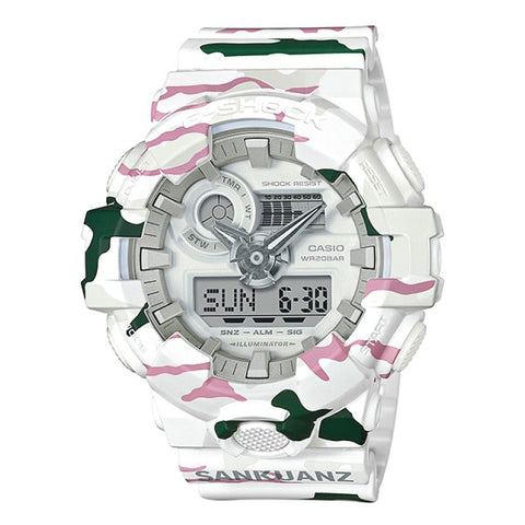 35th Anniversary Collaboration Series Casio G-SHOCK × SANKUANZ Collaboration Model Camouflage Resin Band Watch GA700SKZ-7A GA-700SKZ-7A