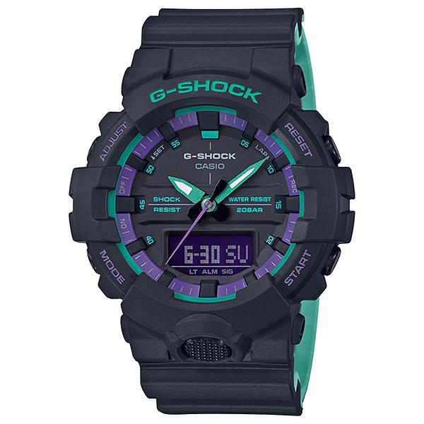 Casio G-Shock GA-800 Lineup 90's Special Color Series Bi-Color Molded Resin Band Watch GA800BL-1A GA-800BL-1A