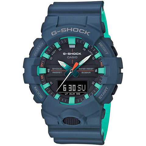 Casio G-Shock GA-800 Lineup Special Color Models Matte Navy Blue Resin Band Watch GA800CC-2A GA-800CC-2A