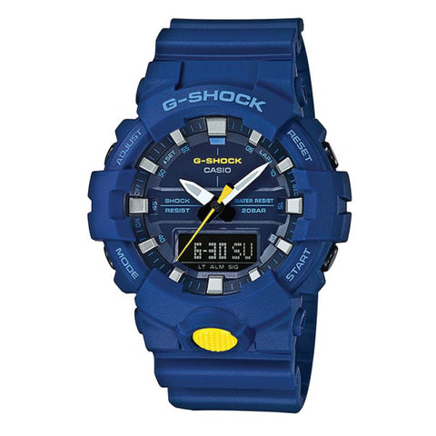 Casio G-Shock GA-800 Analog-Digital Blue Resin Strap Watch GA800SC-2A GA-800SC-2A
