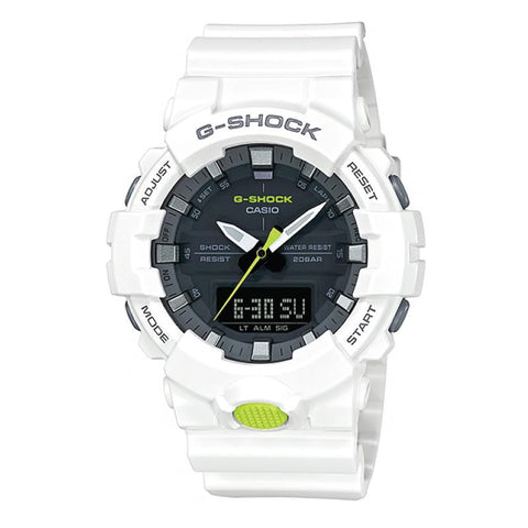 Casio G-Shock GA-800 Analog-Digital White Resin Strap Watch GA800SC-7A GA-800SC-7A
