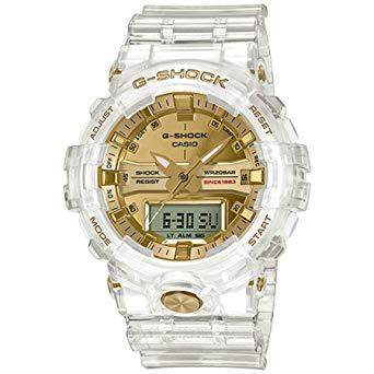 Casio G-Shock 35th Anniversary Glacier Gold Series Clear Semi-Transparent Resin Band Watch GA835E-7A GA-835E-7A