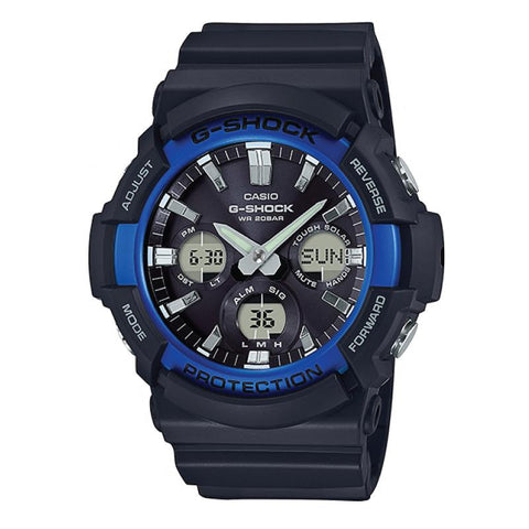 Casio G-Shock Big Case Tough Solar GAS-100 Black Resin Strap Watch GAS100B-1A2 GAS-100B-1A2