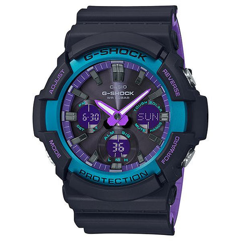Casio G-Shock GAS-100 Lineup 90's Special Color Series Bi-Color Molded Resin Band Watch GAS100BL-1A GAS-100BL-1A