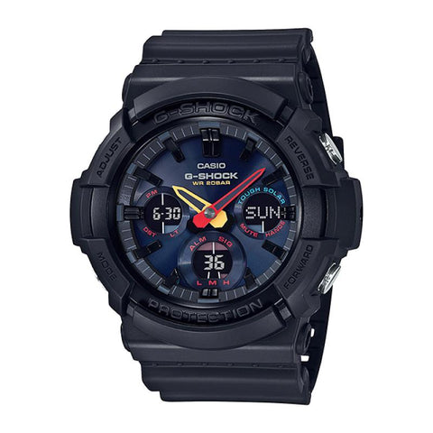 Casio G-Shock GAS-100 Lineup Special Color Model Jet Black Resin Band Watch GAS100BMC-1A GAS-100BMC-1A