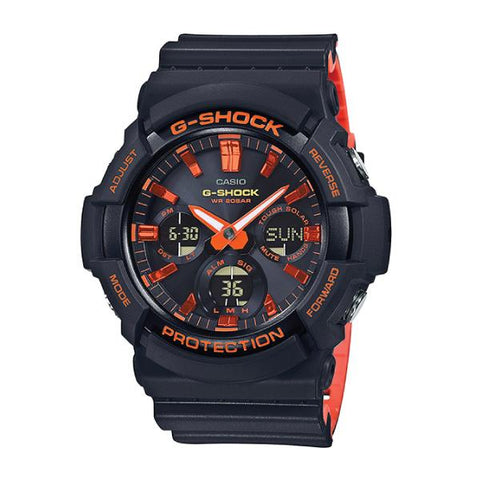 Casio G-Shock GAS-100 Lineup Special Color Model Black Resin Band Watch GAS100BR-1A GAS-100BR-1A