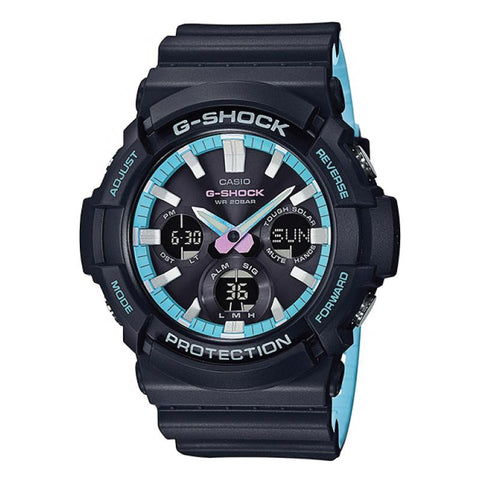 Casio G-Shock Special Color Models Black Resin Band Watch GAS100PC-1A GAS-100PC-1A