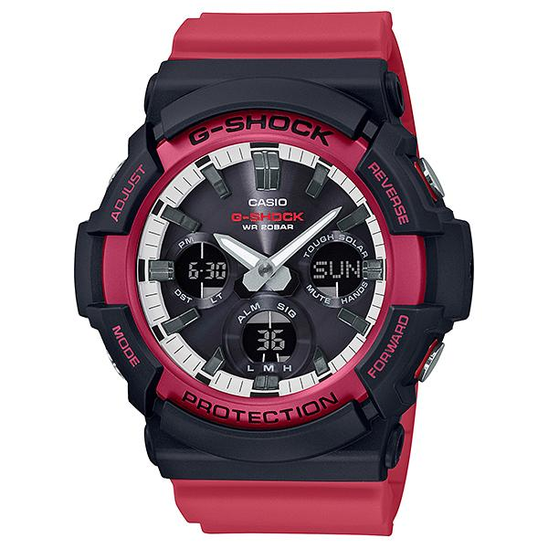 Casio G-Shock GAS-100 Lineup Special Color Model Red Resin Band Watch GAS100RB-1A GAS-100RB-1A
