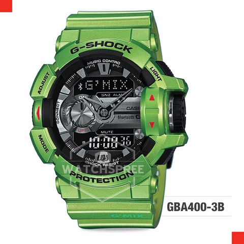 Casio G-Shock Bluetooth G'MIX Watch GBA400-3B