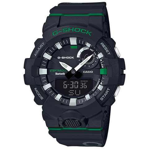 Casio G-Shock G-SQUAD Bluetooth® Dagger Basketball Themed Series Black Resin Band Watch GBA800DG-1A GBA-800DG-1A